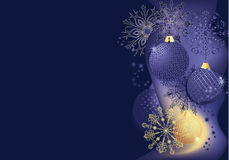 Blauwe en gouden Kerstmisachtergrond Royalty-vrije Stock Foto