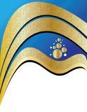 Blauwe en Gouden Presentatie Stock Foto