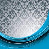 Blauwe en grijze achtergrond Stock Foto's