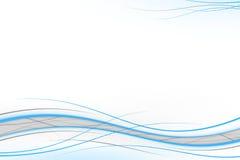 Blauwe en grijze golven Stock Afbeeldingen