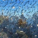 Blauwe en grijze multi gekleurde uitstekende willekeurig verspreide kledings plastic knopen Royalty-vrije Stock Afbeeldingen