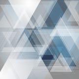 Blauwe en grijze technologie-driehoekenachtergrond royalty-vrije illustratie