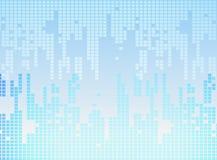 Blauwe en grijze vierkanten Stock Afbeelding