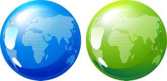 Blauwe en groene Aarde - het concept van de ecoenergie Stock Afbeelding