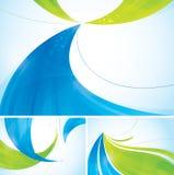 Blauwe en groene abstracte achtergrond royalty-vrije illustratie