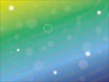Blauwe en groene abstracte achtergrond Stock Afbeeldingen