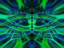Blauwe en groene abstracte achtergrond Stock Fotografie