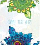 Blauwe en groene bloem Royalty-vrije Stock Foto's