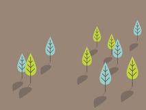 Blauwe en groene bomen Royalty-vrije Stock Fotografie