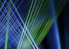Blauwe en groene lichtstralenachtergrond Royalty-vrije Stock Afbeeldingen