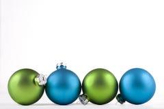 Blauwe en groene ornamenten Royalty-vrije Stock Fotografie