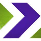 Blauwe en groene pijlen Royalty-vrije Stock Afbeeldingen