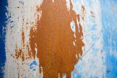 Blauwe en oranje achtergrond Stock Afbeelding
