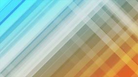 Blauwe en oranje diagonale strepen abstracte videoanimatie stock videobeelden