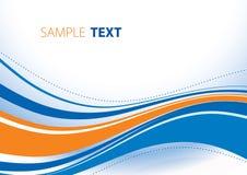 Blauwe en oranje golven Stock Afbeelding
