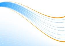 Blauwe en oranje lijn Royalty-vrije Stock Afbeeldingen
