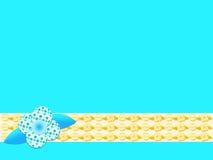 Blauwe en oranje retro bloemachtergrond royalty-vrije illustratie