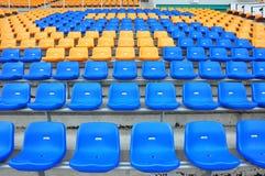 Blauwe en oranje zetel Royalty-vrije Stock Foto