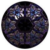 Blauwe en purpere knoop royalty-vrije illustratie