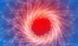 Blauwe en rode abstracte achtergrond. Verdwijn effect langzaam Royalty-vrije Stock Foto's