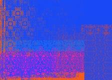 Blauwe en rode achtergrond Stock Foto's