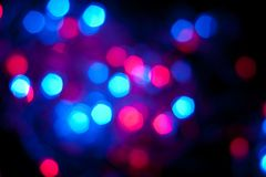 Blauwe en rode Bokeh Royalty-vrije Stock Afbeeldingen