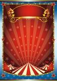 Blauwe en rode circusachtergrond Stock Fotografie
