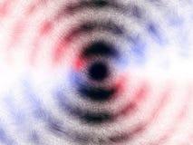 Blauwe en rode deeltjes spiraalvormige emissie Vector Illustratie