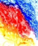 Blauwe en Rode Geschilderde Textuur Stock Fotografie