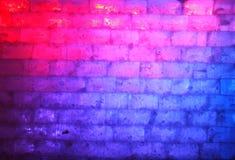 Blauwe en rode muur van ijs stock afbeeldingen