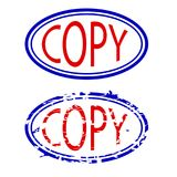 Blauwe en rode rubberzegel, exemplaar Royalty-vrije Stock Fotografie