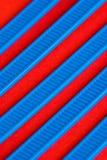 Blauwe en Rode Samenvatting Stock Afbeelding