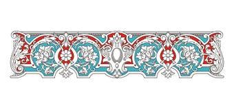 Blauwe en Rode Uitstekende Kadervector 1005 stock afbeelding