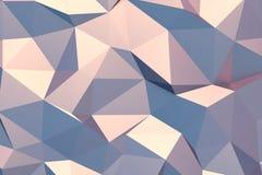 Blauwe en Roze Abstracte Achtergrond Royalty-vrije Stock Afbeelding