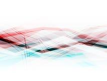 Blauwe en roze abstracte achtergrond met het bewegen van lijnen Stock Foto