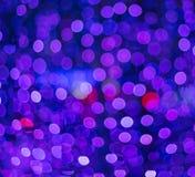 Blauwe en roze lichten Stock Foto