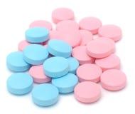 Blauwe en Roze Pillen Stock Fotografie