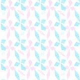 Blauwe en roze ruiten en zigzag Royalty-vrije Stock Afbeelding