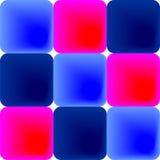 Blauwe en roze tegels Stock Foto