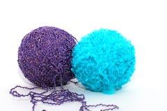 Blauwe en violette ballen Royalty-vrije Stock Fotografie
