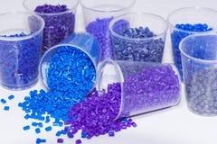 Blauwe en violette polmyerhars stock fotografie
