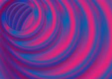 Blauwe en violette vlotte cirkels abstracte achtergrond stock foto's