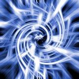 Blauwe en witte abstracte werveling Stock Afbeelding
