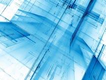 Blauwe en witte achtergrond - abstract digitaal geproduceerd beeld Stock Foto