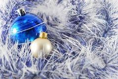 Blauwe en witte ballen Royalty-vrije Stock Afbeelding