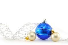 Blauwe en witte ballen Royalty-vrije Stock Foto's