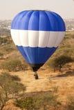 Blauwe en witte ballon Royalty-vrije Stock Foto's