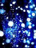 Blauwe en witte bokeh Stock Afbeelding