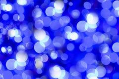 Blauwe en witte bokeh Stock Foto's