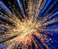 Blauwe en Witte Explosie Royalty-vrije Stock Foto